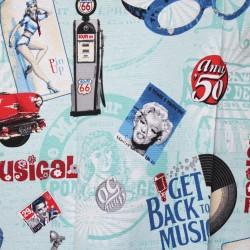 Tkanina Retro 50 Music